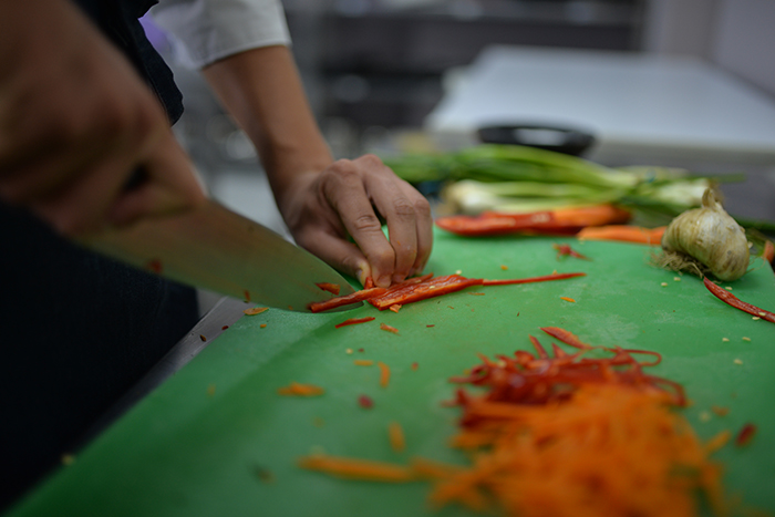Details from cooking during Culinary Workshop