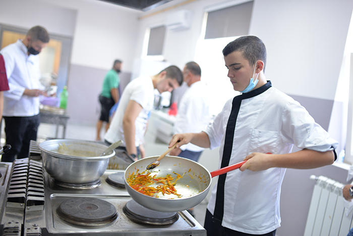 Moments from cooking during Culinary Workshop